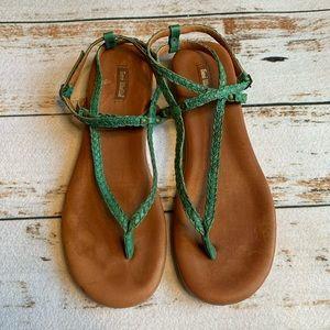 Gee WaWa turquoise braid sandals